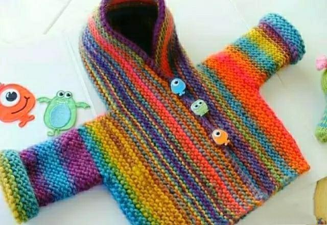 漂亮舒适的女童春季开衫针织,附编织教程与图解