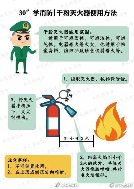 干粉灭火器的使用方法_搜狗指南