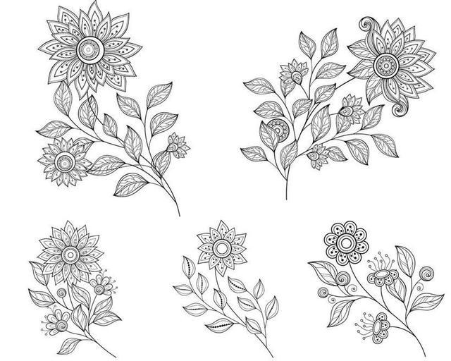 干货!适合5~10岁孩子画的花卉简笔画,快让你的孩子学绘画,收藏