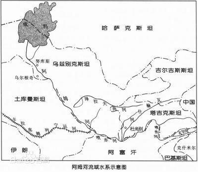 ( )A.阿姆河流域为温带大陆性气候和高山气候B.从乙到丙河... -