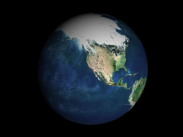 为什么在太空中的地球却悬浮着不会向下坠