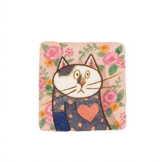 画师Eunyoung Seo 笔下的喵星人小头像,好可爱 乖乖的小猫咪-第6张图片-深圳宠物猫咪领养送养中心