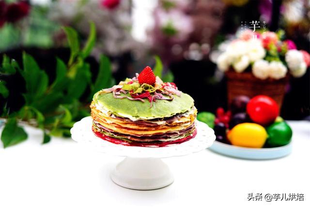 榴蓮千層彩虹蛋糕,無需烤箱在家輕松做,好看更好吃,簡單零失敗