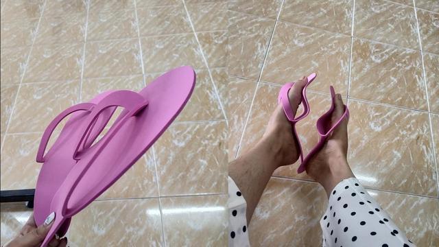 社会姐穿人字拖鞋图片