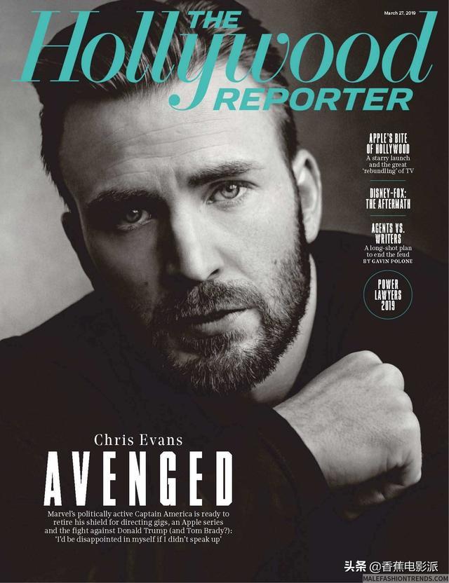 甜心桃总Chris Evans登上《好莱坞报道者》杂志最新一期封面!