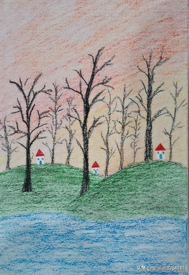 儿童油画作品图片