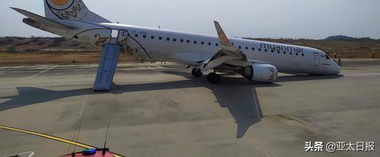 突发!缅甸一客机降落时失控机头触地 四天前曾发生类似事故!