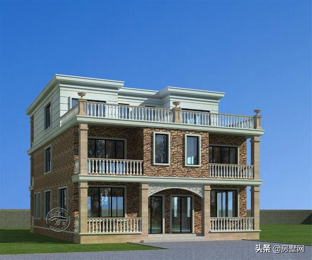 别墅设计:两层半欧式别墅,网红款,农村现在比较流行的一款