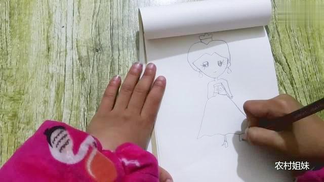 板绘:白雪公主简笔画教程,如何画白雪公主