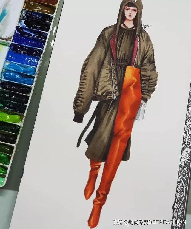 服装设计效果图手绘