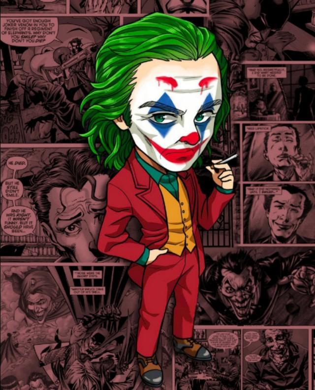 抖音很火的小丑照镜子