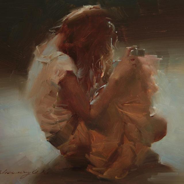 吴兆铭唯美女性人物画欣赏,画中的笔触,光影非常引人入胜