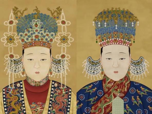 古代皇后服饰头饰图片