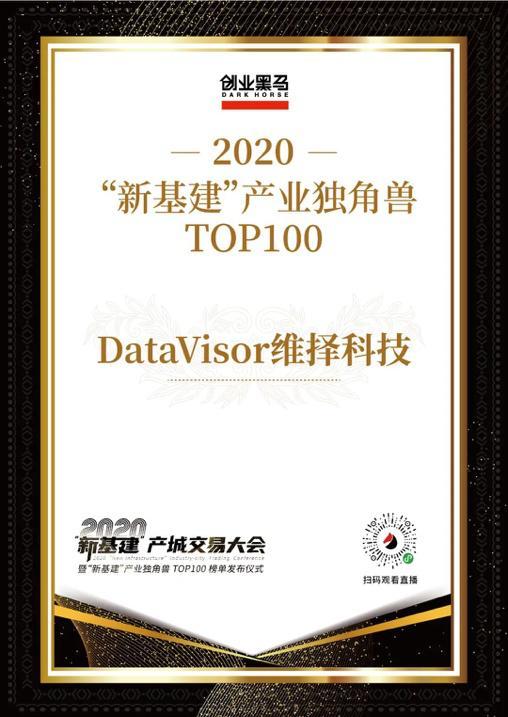 """维择科技入围创业黑马""""新基建产业独角兽TOP100""""榜单"""
