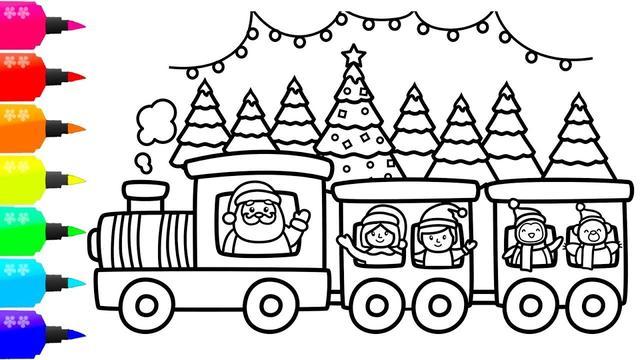 兒童畫小火車圖片