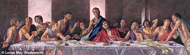 耶稣也不放过!英教堂力挺黑人运动,达芬奇名画遭改,耶稣成黑人