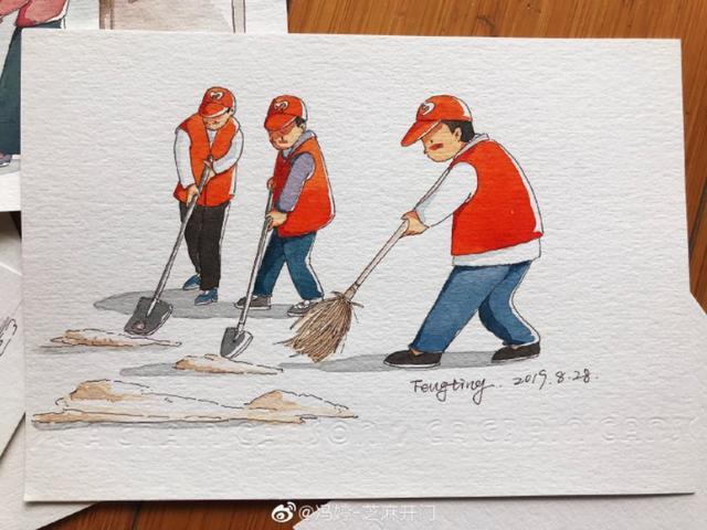 【共创文明城市绘画作品】小学生文明城市绘画作品精选