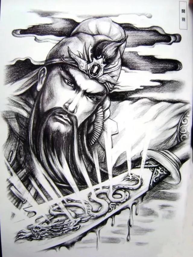 男性招财辟邪纹身图案