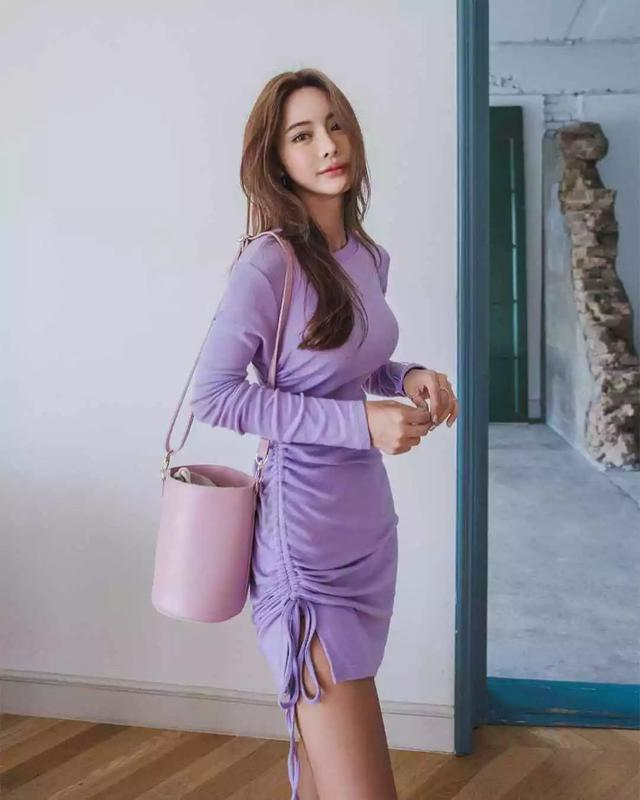 香芋紫的套路穿搭法则,2种方式7款配色,黄黑皮的女生安心穿