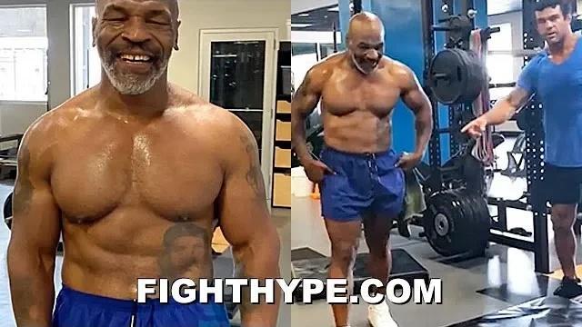 53岁的迈克·泰森全面展示了自己的体格
