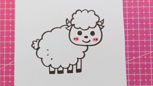 小羊简笔画简单
