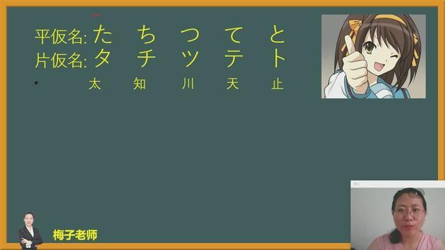 零基础学日语:50音图假名读音,老师发音真好听