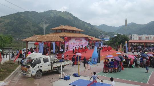 右江区龙川镇龙川村500多外嫁女儿感恩父母回娘家活动现场壮观