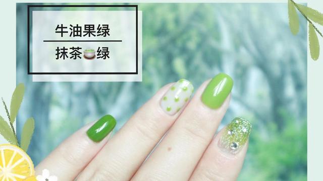 2017年美甲趋势:新娘指尖上的抹茶绿 -Wed114结婚网