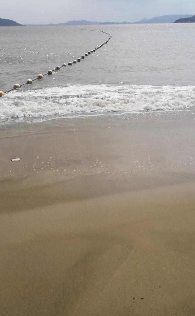 温州月亮湾沙滩全景图