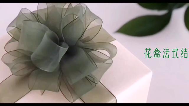 丝带法式蝴蝶结慢动作