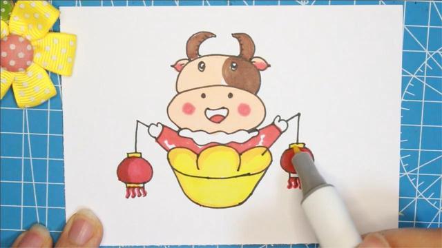 牛简笔画霸气