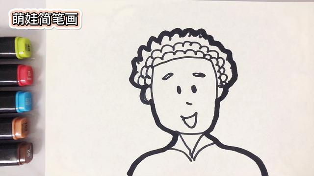 帅气的爸爸简笔画步骤教程图片 - 5068儿童网