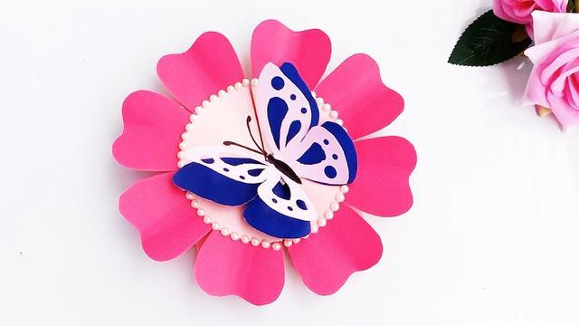 教你做漂亮的蝴蝶贺卡,做法非常简单,手工折纸教程