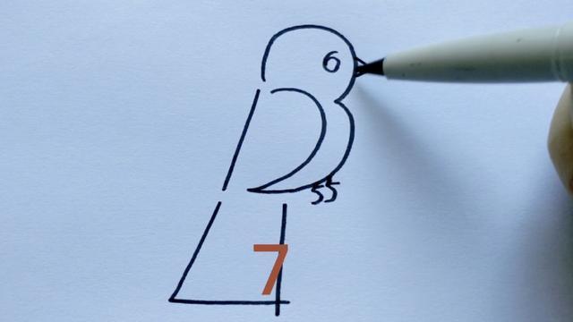 小鸟怎么画简单漂亮