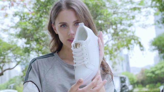 2015春季新款圆头英伦坡跟内增高女鞋休闲运动真皮鞋子平底旅