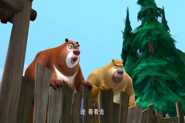 熊出没:熊大和动物们配合,假扮树神,把光头强吓坏了!