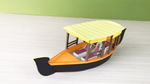 手工纸船的折法