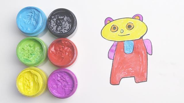 熊貓圖片簡筆畫彩色