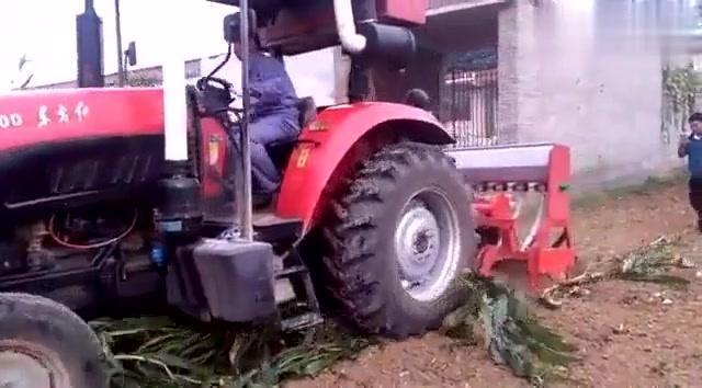 茎穗兼收玉米收割机视频