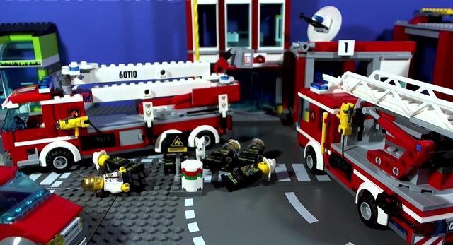 乐高玩具32:乐高城市消防车,每个男人小时候都有一个消防车的梦
