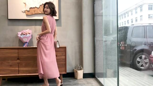 針織寬松連衣裙