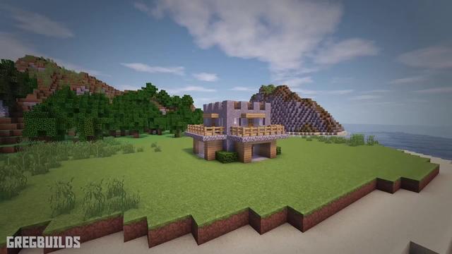 我的世界单人生存32:利用一些廉价的材料,造一个城堡