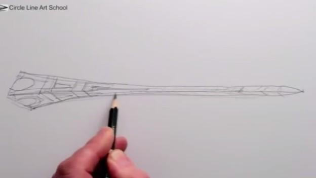 埃菲尔铁塔素描背景图