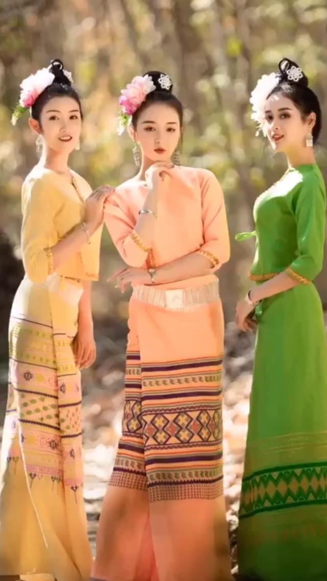 傣族传统服饰_美篇