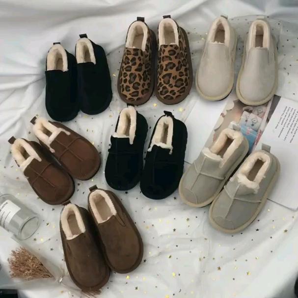 儿童棉鞋2019冬季女童韩版小孩加厚绒豆豆鞋学生棉鞋