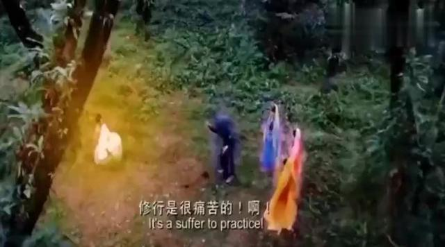 下雨天眼镜蛇王为佛陀挡雨,佛陀在菩提树下成佛,众人敬佩不已