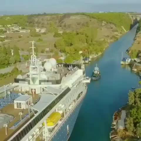 爱琴海和奥尼亚海的灵魂蓝线:希腊科林斯运河