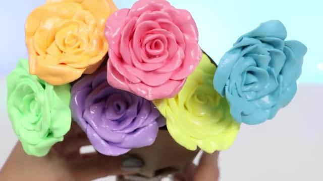 橡皮泥花朵制作图解