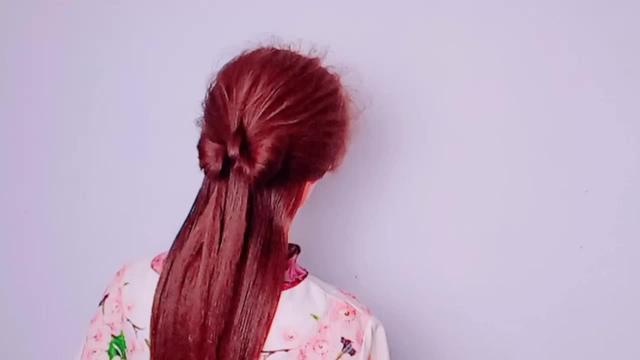 最简单又个性的半披发型