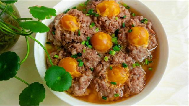 咸蛋蒸肉饼饭套餐图片